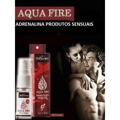 AQUA FIRE LUBRIFICANTE A PROVA D'ÀGUA 12ML - HOT FLOWERS