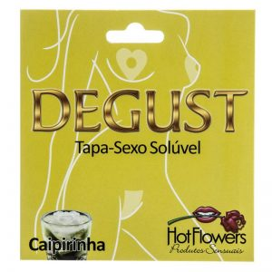 DEGUST TAPA SEXO FLOR SOLÚVEL CAIPIRINHA HOT FLOWERS